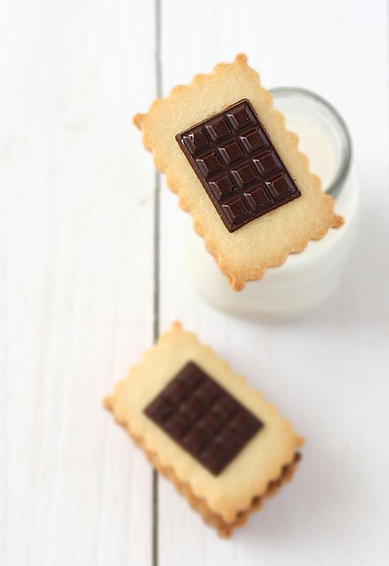 Galletas con chocolate, tipo Petit Ecolier