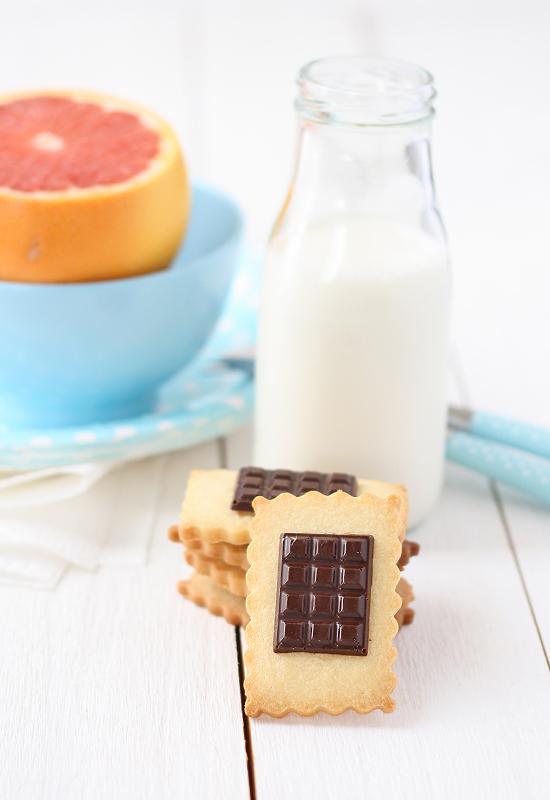 Galletas con chocolate tipo Petit Ecolier