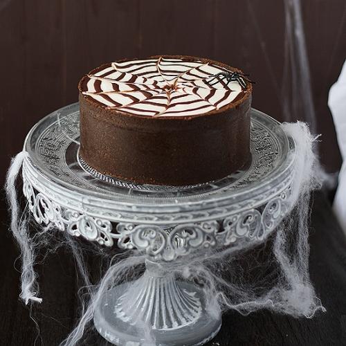 Tarta de philadelphia y chocolate para Halloween
