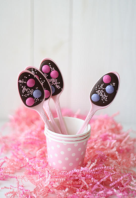 Cucharas de chocolate