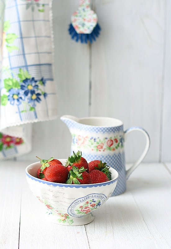 Helado de fresa