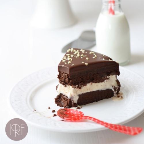 Tarta helada de chocolate y vainilla
