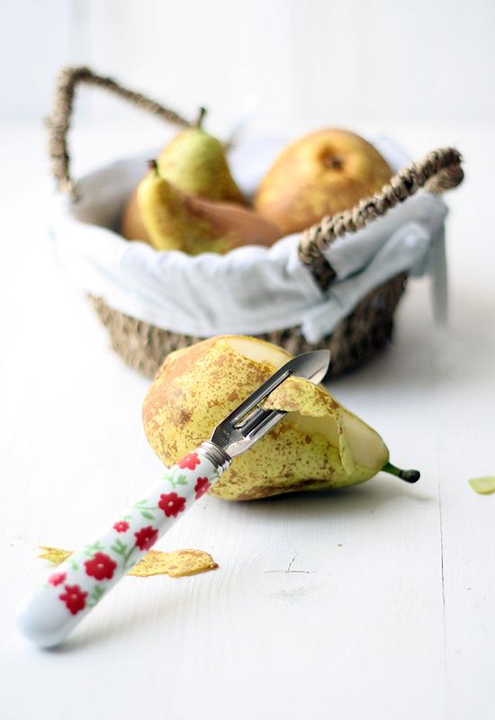 Ensalada de pera, queso azul y nueces