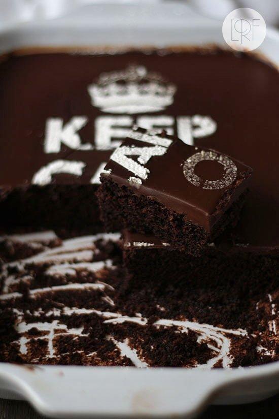 ... eating chocolate
