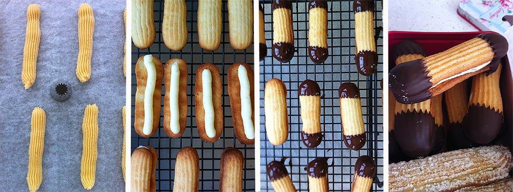 Paso a paso-Pastas rellenas de vainilla
