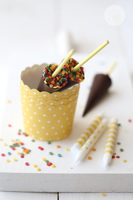 Paraguas de chocolate