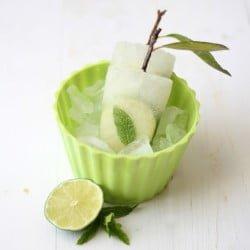 Mojito ice pops