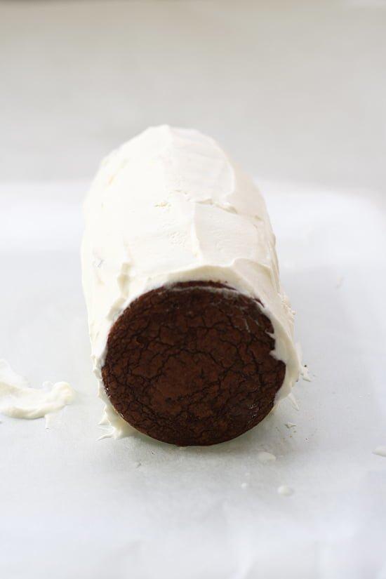 Tarta de galletas, nata y chocolate