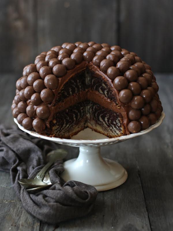 Tarta Maltesers (corte)